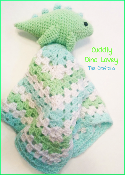 The Craftzilla  Dinosaur Lovey Blanket  9b15b36b6