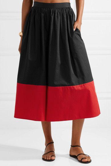 Marni Cropped Two-tone Organic Cotton-poplin Wide-leg Pants - Black Mara Hoffman R8ryqmfOW