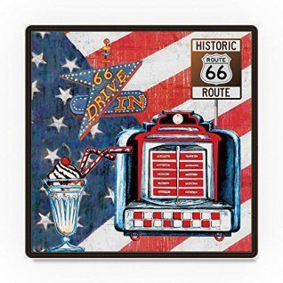 Route 66 Wall Art Is Beautiful And Full Of History Décor Looks The Best In Offices Man Caves Kitchens Living Rooms Plus R Pinteres