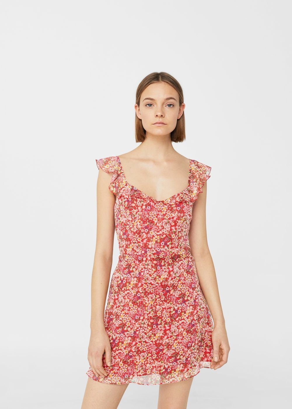 Floral ruffled dress - Women
