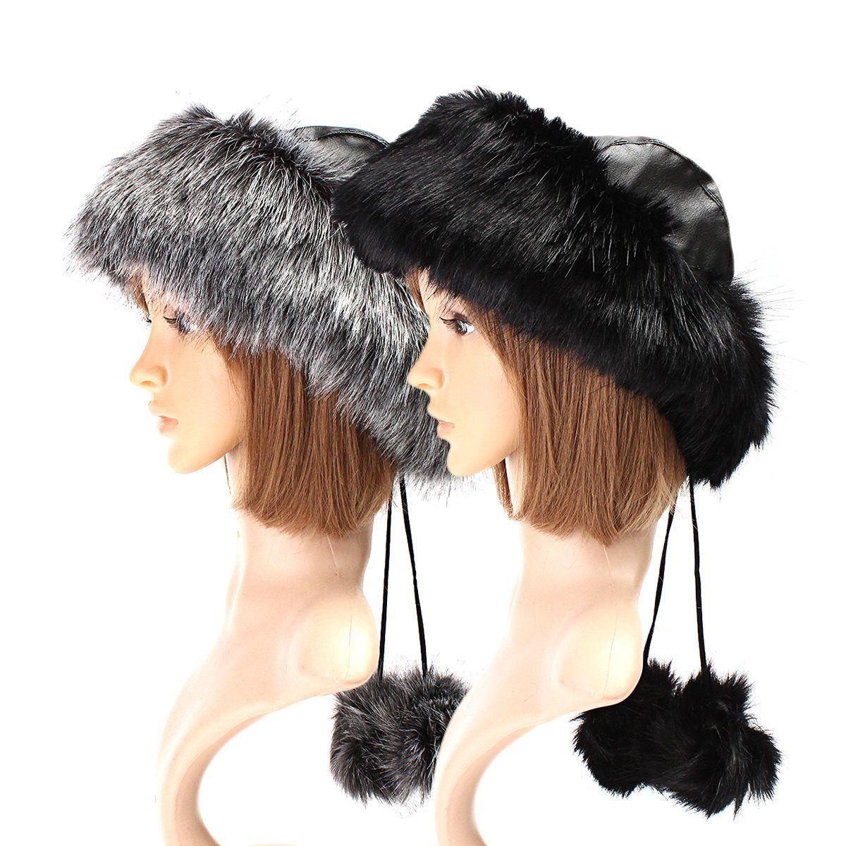 Designer Lagenlook Leather Cap Hat Beanie Black Faux Leather