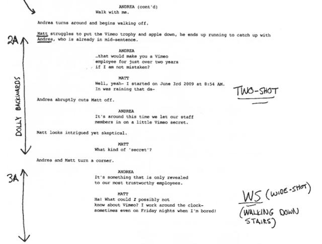 Making A Shot List  Shot List Films And Screenwriting