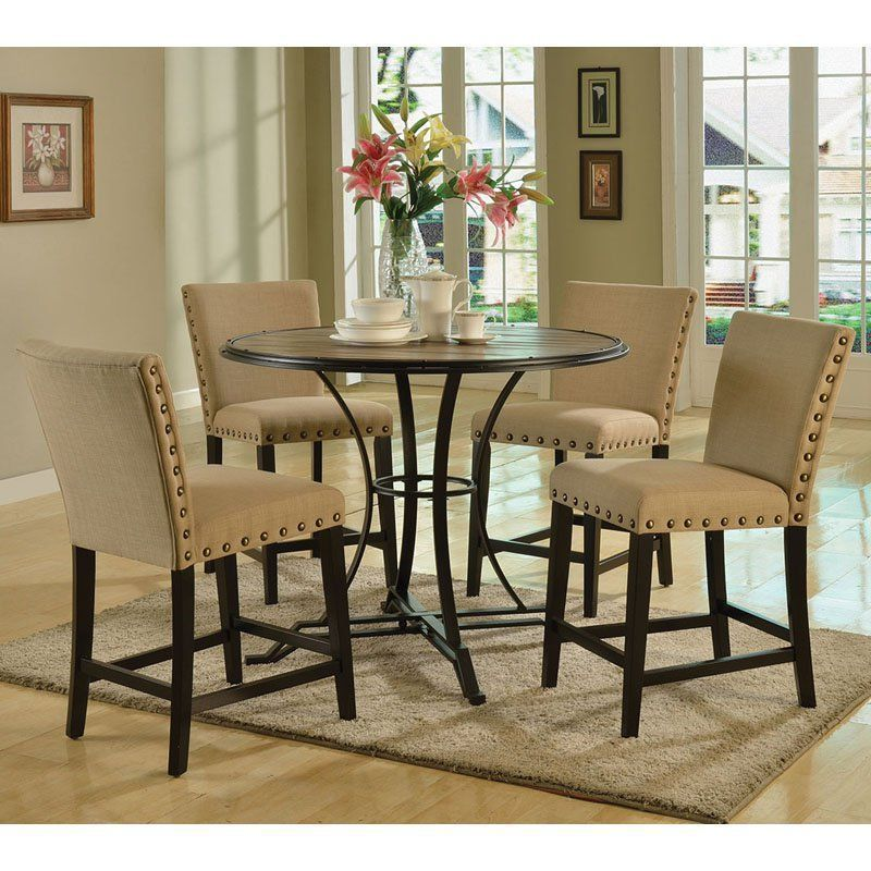 Acme Furniture Byton Counter Height Dining Chairs  Set Of 2 Beauteous High Dining Room Table Inspiration