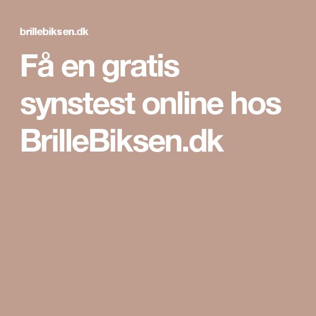 Få en gratis synstest online hos BrilleBiksen.dk