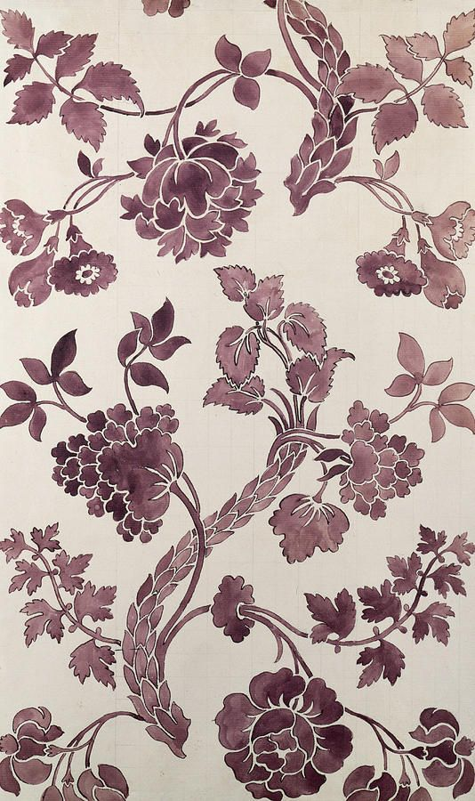 Design For A Silk Damask Tapestry - Textile by Anna Maria Garthwaite