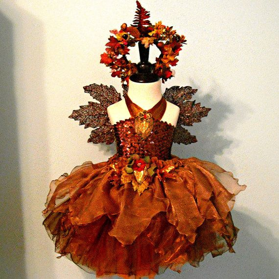 fairy costume autumn woodland fairy made to order. Black Bedroom Furniture Sets. Home Design Ideas