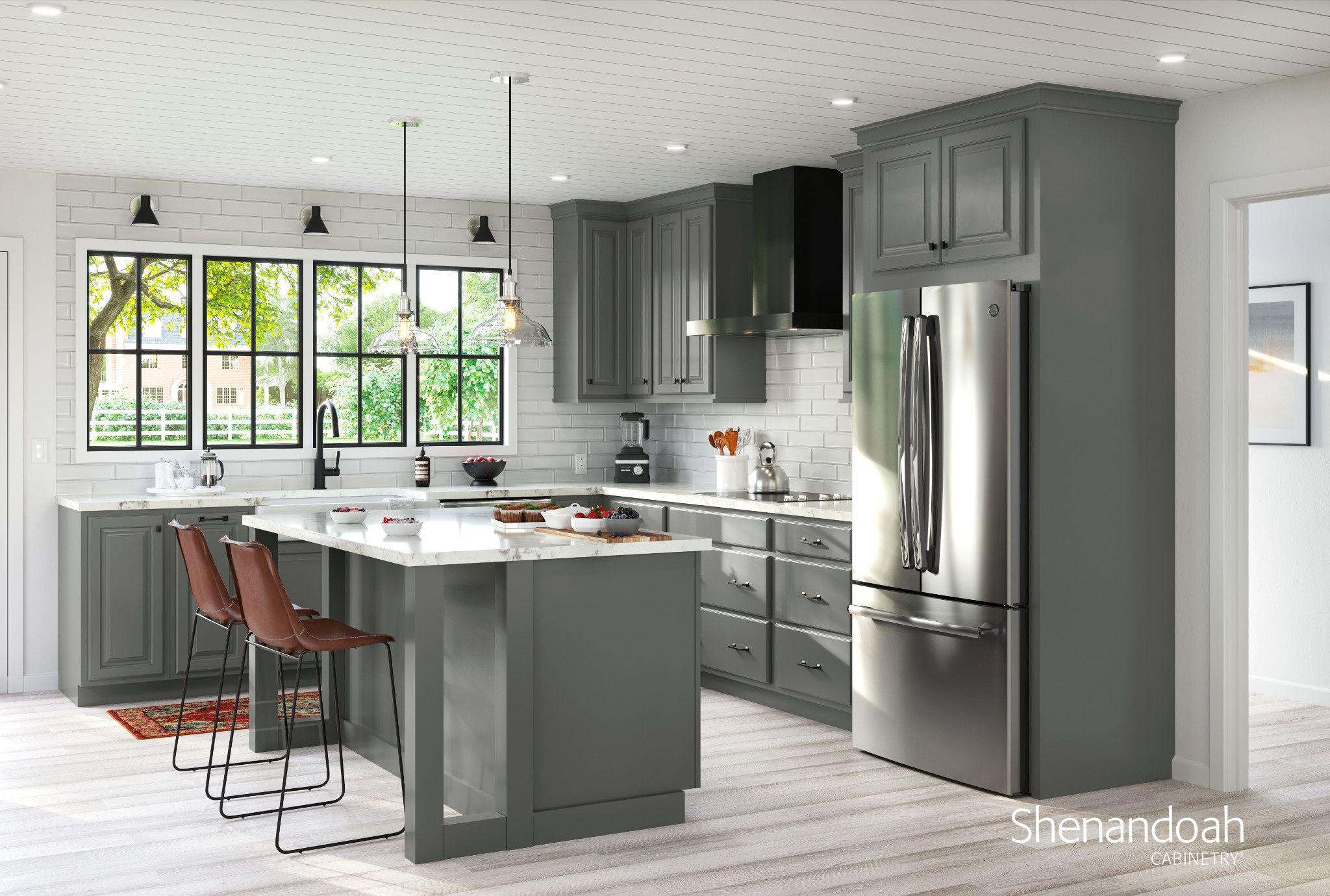 Grove Painted Boulder In 2020 Kitchen Remodel Solid Wood Kitchen Cabinets Camper Makeover
