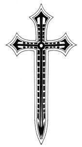 4e94d3217 Holy cross, mighty sword | Follower of Jesus Christ | Cross tattoo ...