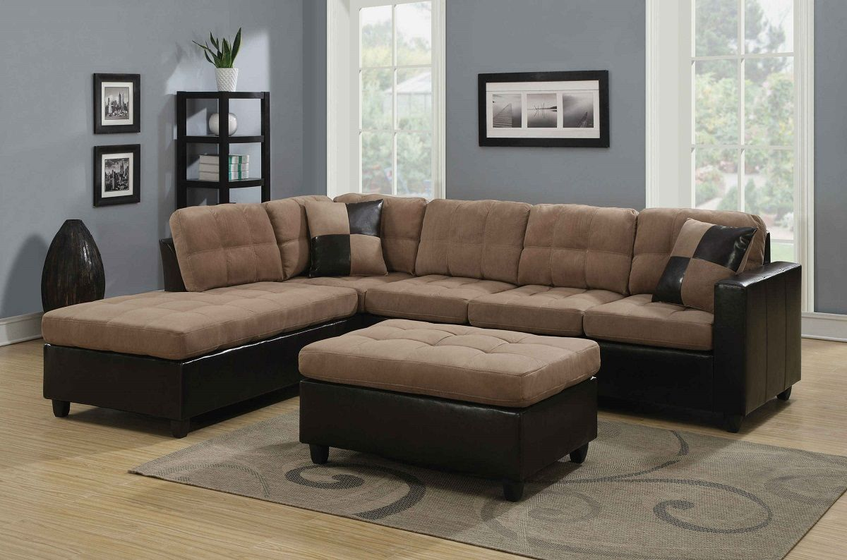 Sensational Harlow Collection 505675 Two Tone Sectional Sofa Home Interior And Landscaping Oversignezvosmurscom