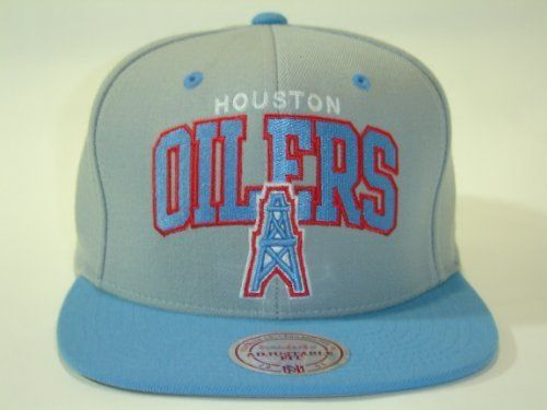 09b5293e4 Mitchell and Ness NFL Houston Oilers Arch Gray 2 Tone Retro Snapback Cap by  Mitchell