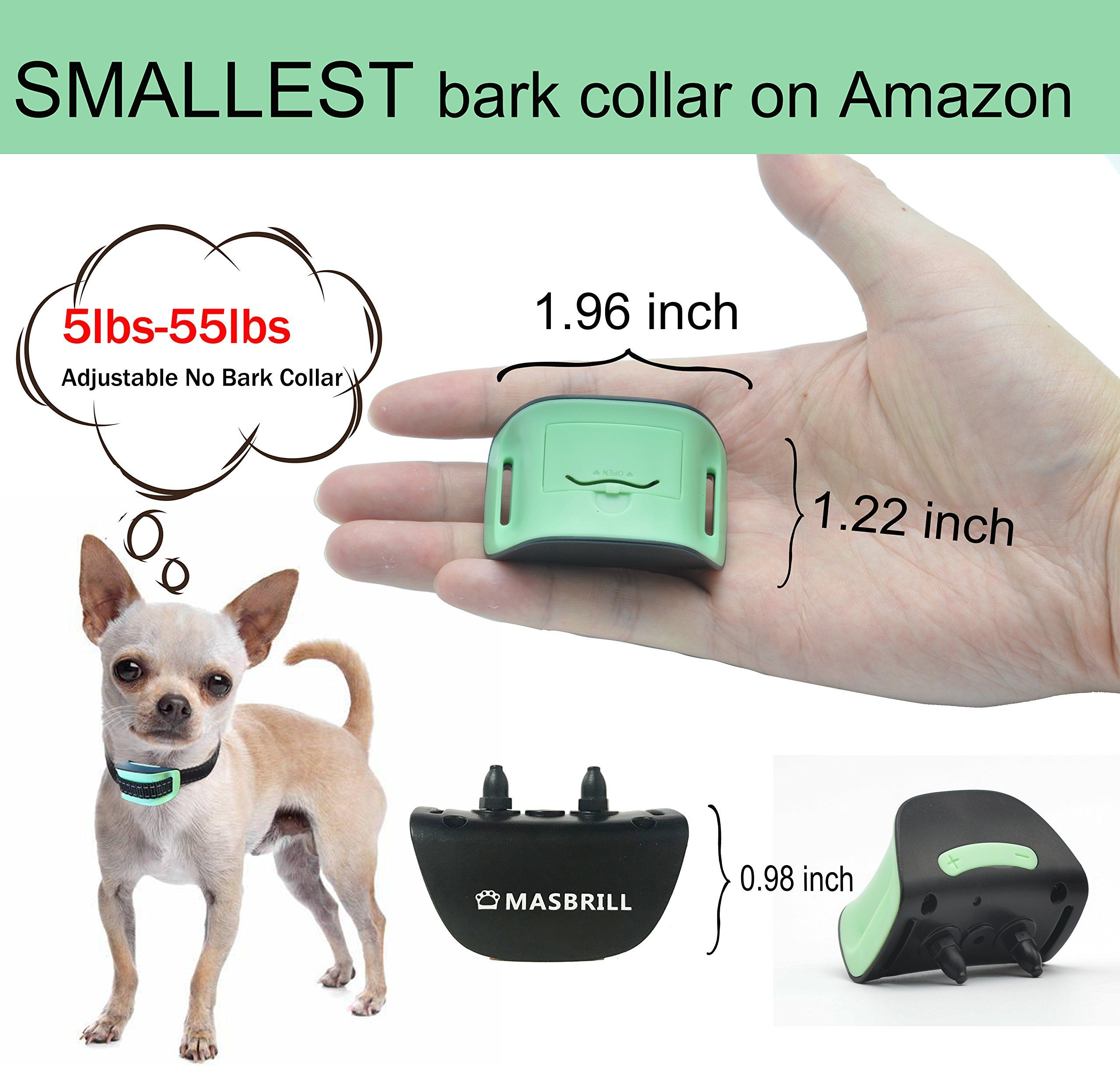 Masbrill Small Dog Bark Collar No Shock For Dogs Extra Small