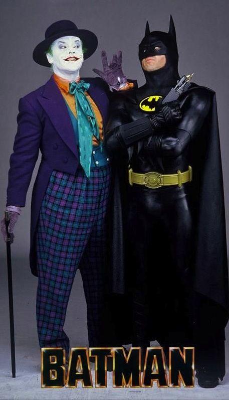 Jack Nicholson and Michael Keaton as The Joker and Batman in u0027Batmanu0027 (1989). Costume Designer Bob Ringwood & Jack Nicholson and Michael Keaton as The Joker and Batman in u0027Batman ...