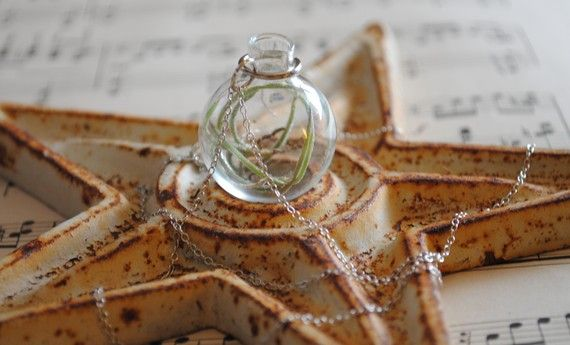 Living Airplant Necklace #etsy #handmade