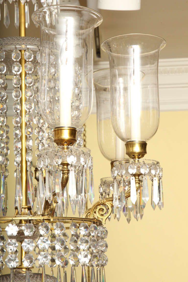 Regency antique ormolu and cut glass chandelier english circa 1820 arubaitofo Gallery
