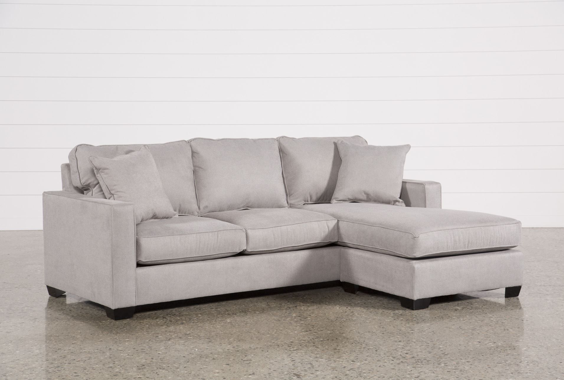 Best Egan Ii Cement Sofa With Reversible Chaise Sectional 400 x 300