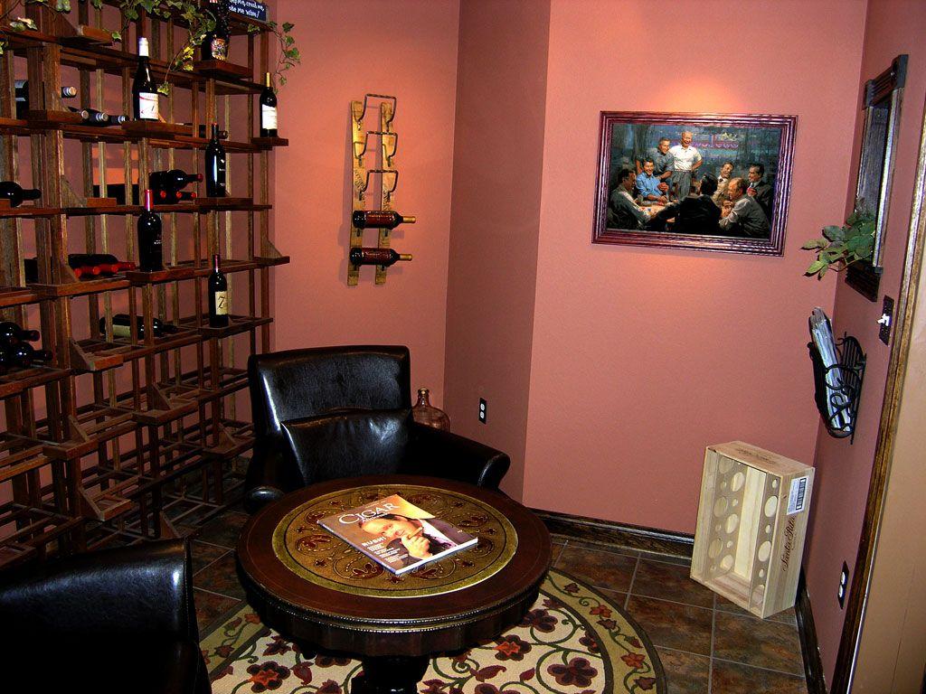 Inside My Diy Wine Cellar Cigar Room Allure Flooring From Home Depot Looks Like Tile But Bought On Sale And Instal Diy Wine Cellar Cigar Room Allure Flooring