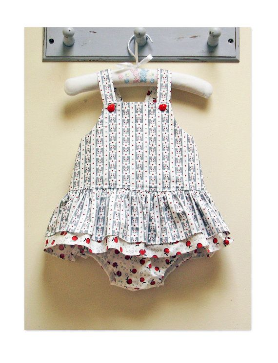 Romper sewing pattern, baby girls romper pdf sewing pattern ...