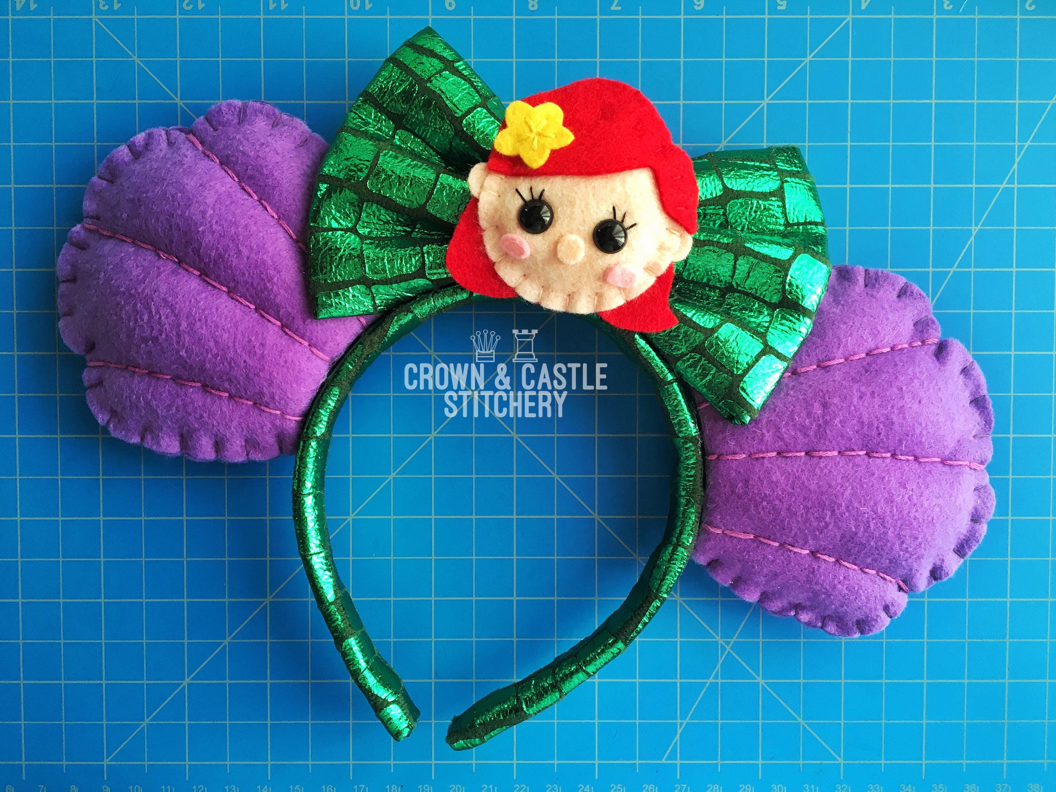 Ariel /& Eric inspired Mouse Ears Little Mermaid