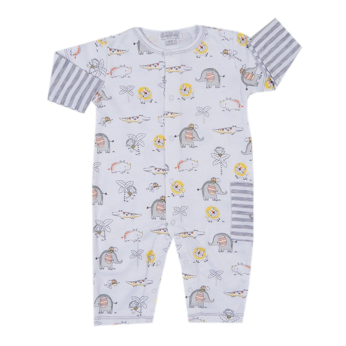 Kissy Kissy Baby-Boys Infant Jungle Out There Print Footie with Zipper