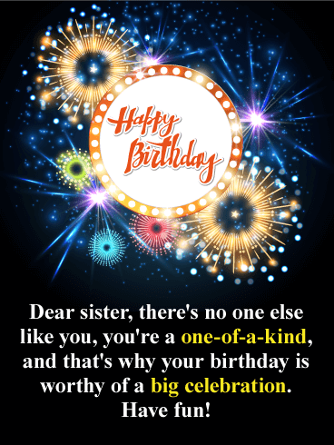 Sparkle And Shine Happy Birthday Card For Sister Birthday Greeting Cards By Davia Happy Birthday Sister Messages Sister Birthday Card Happy Birthday Wishes Sister