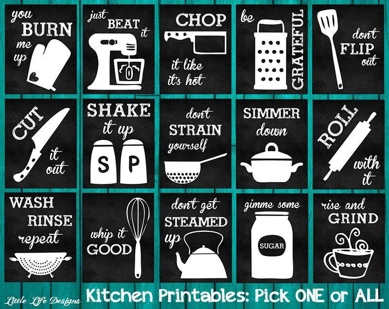 Wonderful Kitchen Decor. Kitchen Utensil Decor. Kitchen Wall Art. Funny