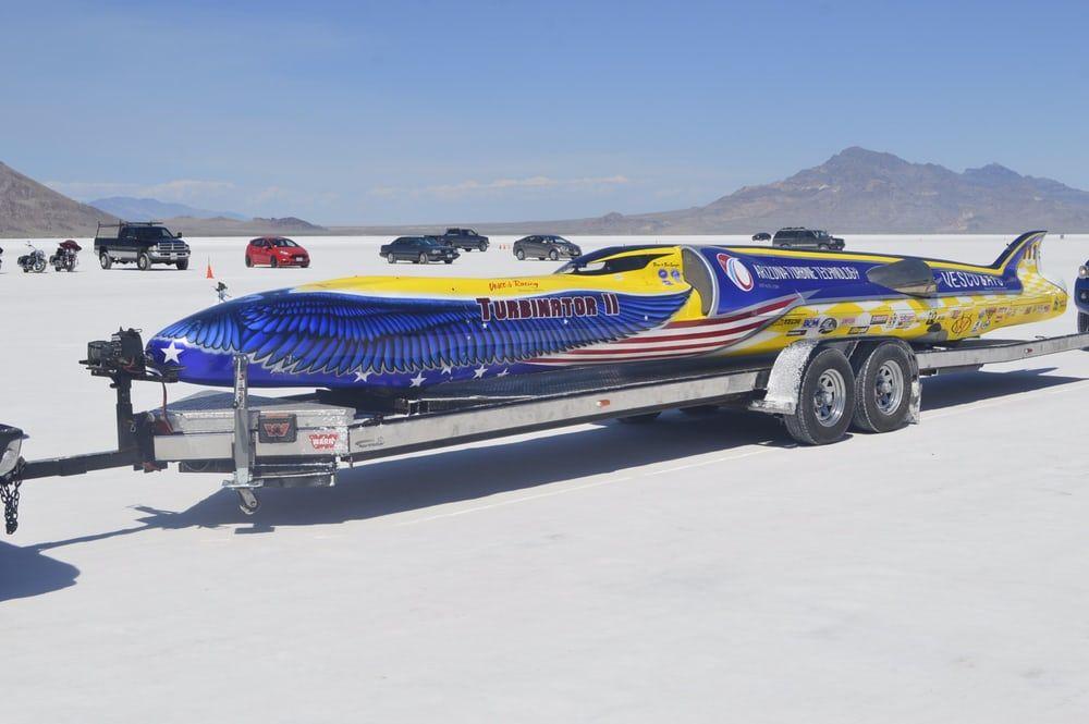 The impressive Turbinator II is the world's fastest wheel-driven car with a 458.481 mph (738 km/h)...
