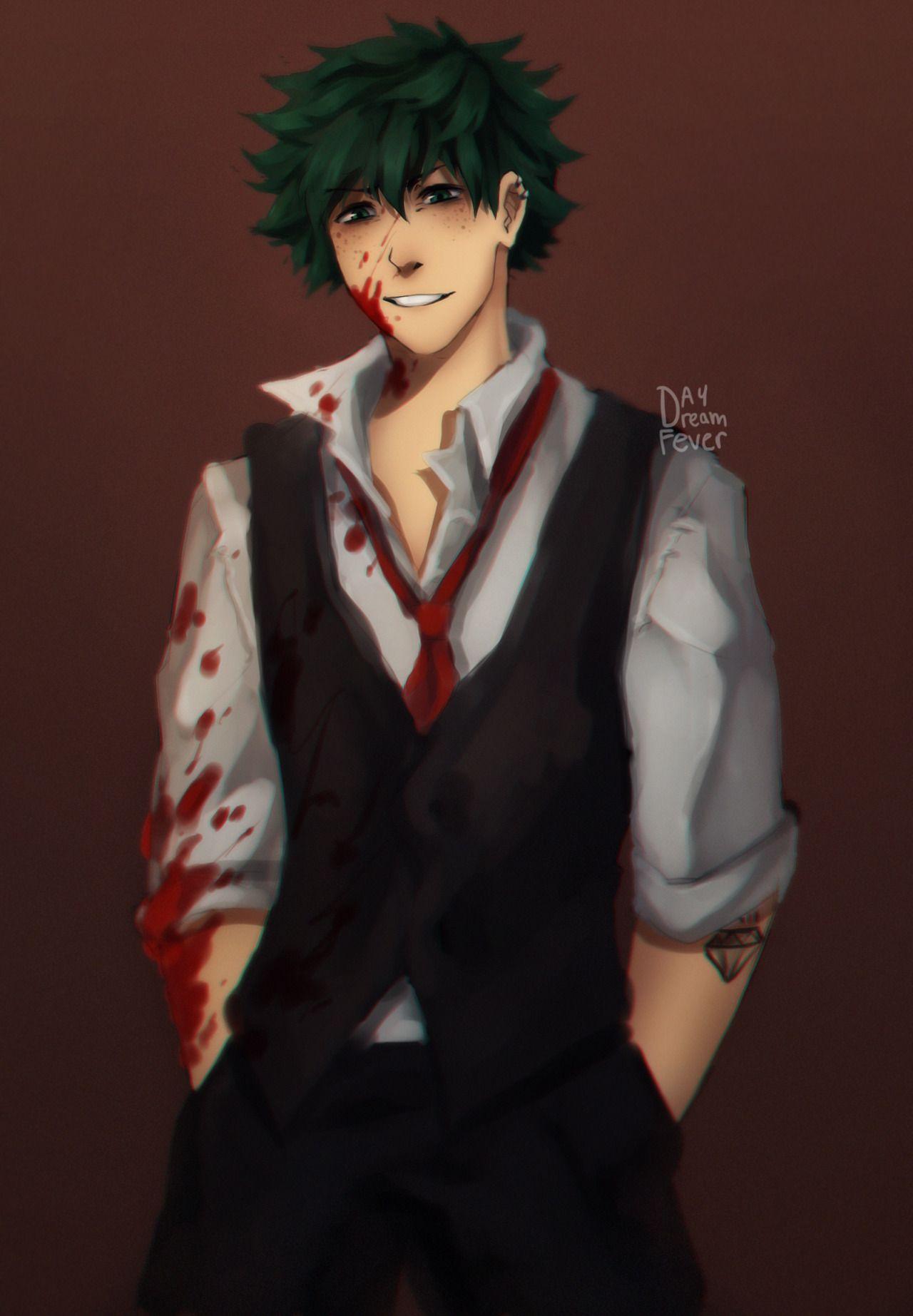 Izuku Midoriya Mafia Boss Villain Villain Deku My Hero