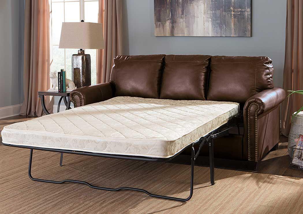 Langlois Furniture   Muskegon, MI Lottie DuraBlend Chocolate Full Sofa  Sleeper
