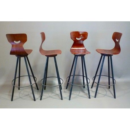 Ensemble De Chaises Hautes De Bar Design Adam Stegner Chaises