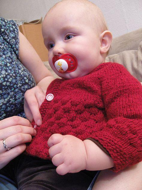 79c92c335 Knit baby cardigan sweater free pattern