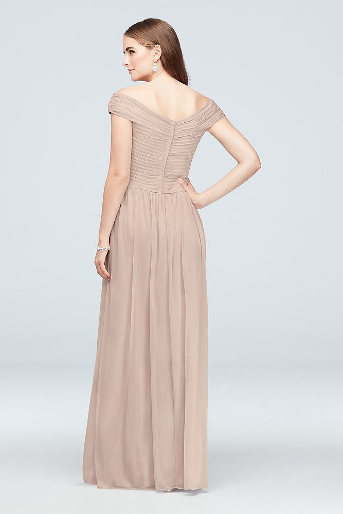 242da771941 Off-the-Shoulder Crisscross Mesh Bridesmaid Dress Style 4XLF19951 ...