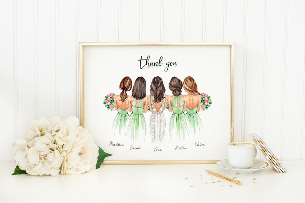 Customized Bridesmaids Gift Gifts For Bridesmaids Bridesmaid Etsy In 2020 Customized Bridesmaid Gifts Bridesmaids Personalized Personalized Bridesmaid Gifts