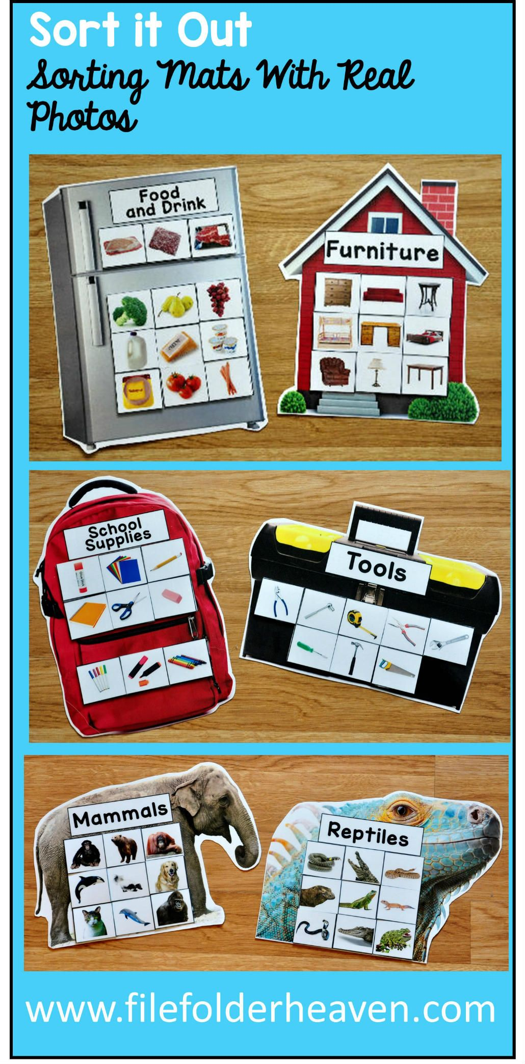 These Sorting Activities Sorting Mats With Real Photos Include 15 Unique