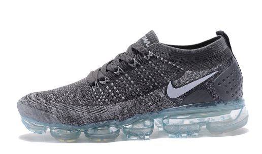 5f354db0ba7ba Adaptable Nike Air VaporMax Flyknit 2 TPU Wolf Grey White Women s Men s  Athletic Running Shoes Trainers