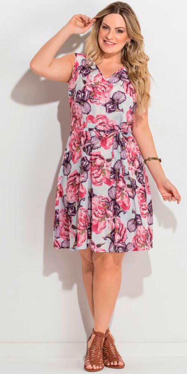 1019244ef Vestido floral sem mangas é versátil, charmoso e deixa o look super  delicado. #