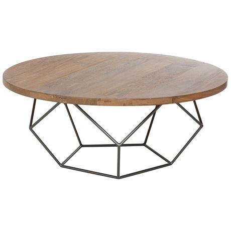 Modern Collection Midcentury Coffee Table  Wooden Outdoor