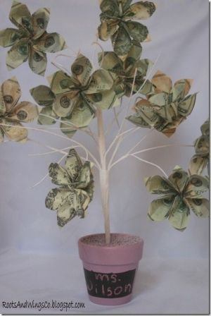 Money tree gift by MarylinJ | gifts. money | Pinterest | Money trees ...