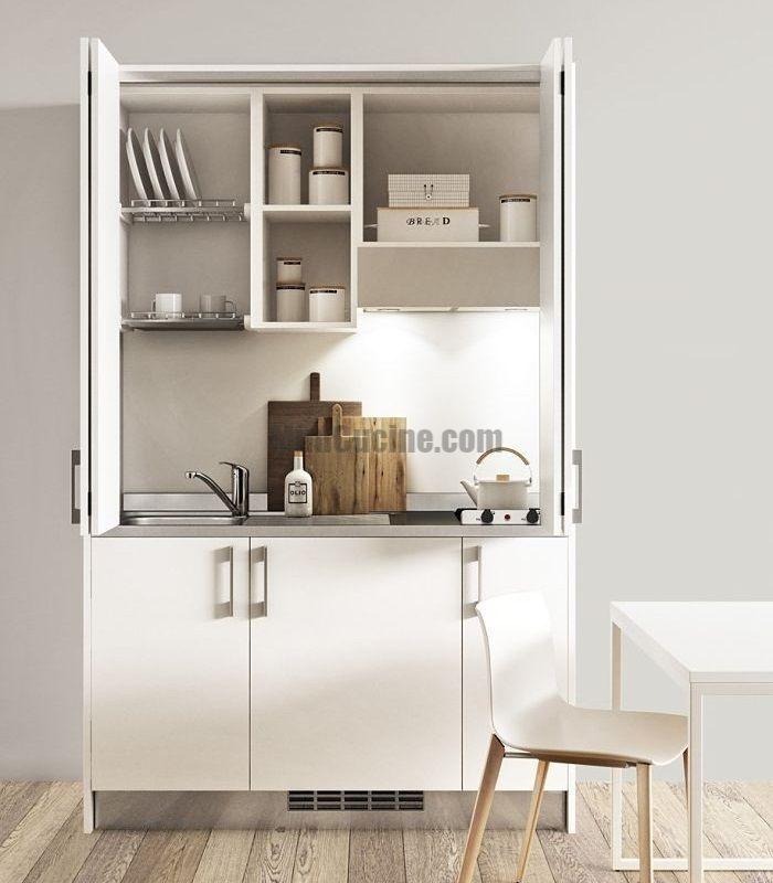 Mini Cucine monoblocco a scomparsa: esempi di armadio cucina ad ...