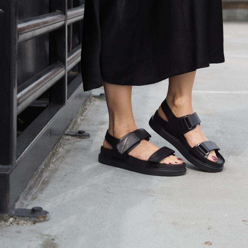 Vagabond Erin Two Strap Sandals Black
