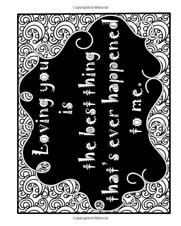 Amazon Cute Quotes A Stress Relief Adult Coloring Book Containing 30