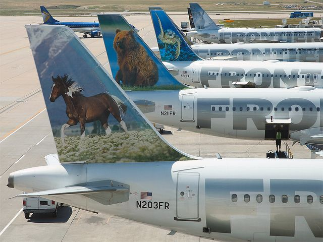 Frontier Airlines Tails Frontier Airlines Pinterest Aircraft
