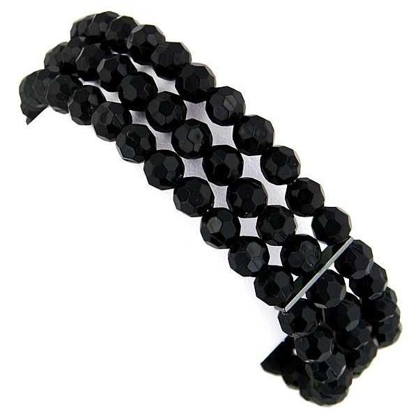 You're reviewing: Vintage Jet Black Beaded Bracelet (€14) ❤ liked on Polyvore featuring jewelry, bracelets, accessories, black, beaded jewelry, vintage beaded jewelry, vintage jewellery, vintage jewelry and hematite jewelry