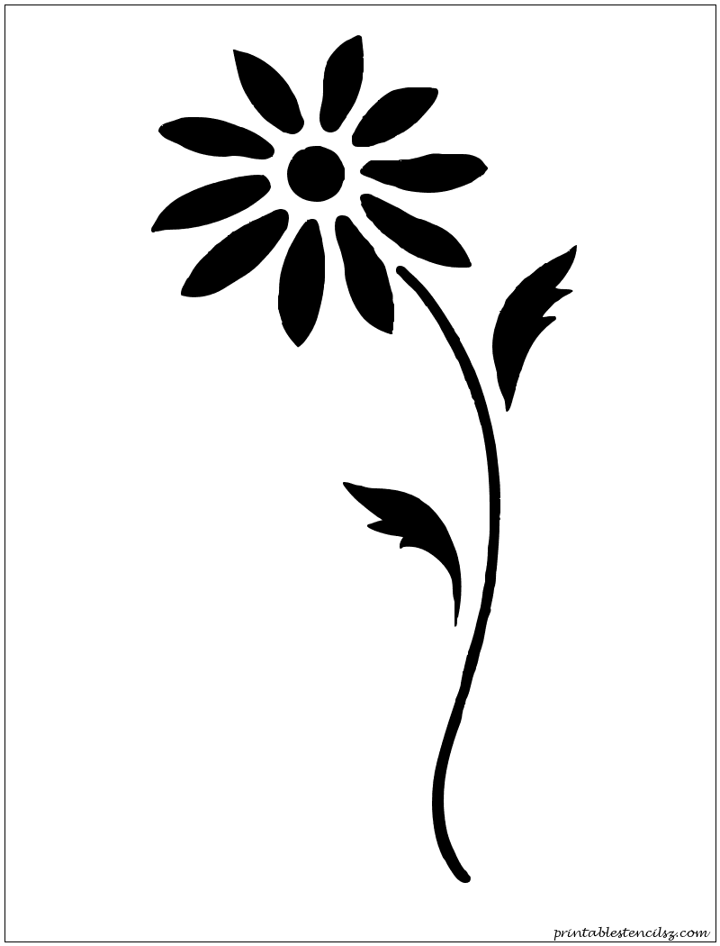 Free printable stencils for painting t shirt stencils designs free - Flowers Printable Stencils Free