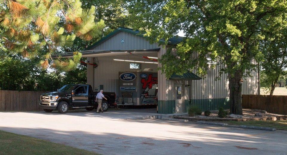 Morton Buildings hobby garage in Muskogee, Oklahoma