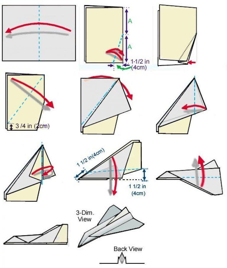 Paper Airplane Folding Diagram Online Schematic Diagram