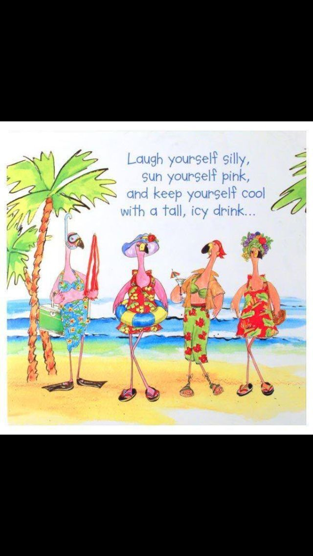 illustration deco card decor cocktail Tropical card gift for woman beach beach vacation postcard design