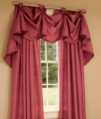 Ashford Silk 3 Scoop Victory Swag Curtains Country Curtains