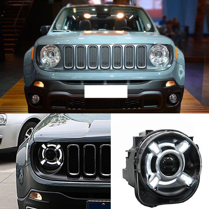 Pair For 2015 2016 2017 Jeep Renegade Hid Led Headlight With Drl