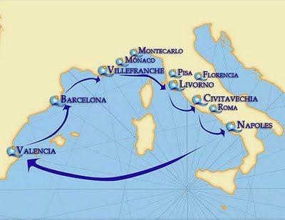Itinerario Crucero Por El Mediterraneo Cruceros Crucero