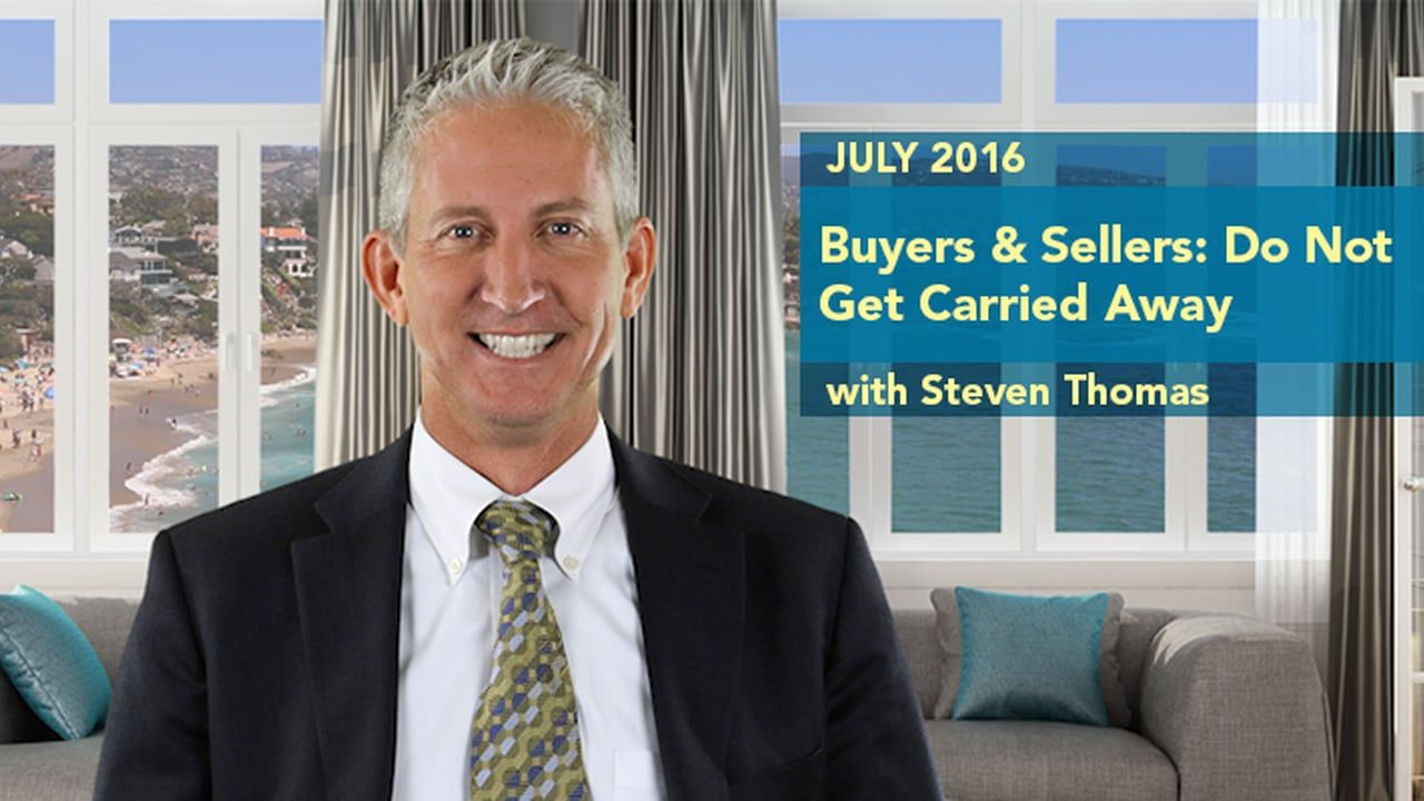 Steven Thomas from reportsonhousing.com has a July 2016 video about the Orange County housing market. Pesky summer distractions are cooling the housing market as buyers and sellers are out on vacation. Although now is not the time for buyers and sellers to take their eye off the fair market value. This video is presented in association with The Orange County Association of REALTORS®.